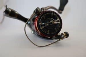 Shimano Stradic ultralight close up spooled braid