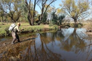 Dan Lovecek fly fishing sunny day Rubicon
