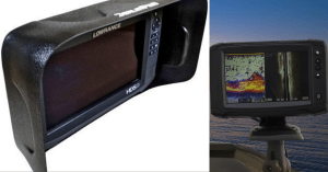 Fish Finder Sun Visors feature image of a cover and a fish finder