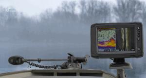 fish finder boat trolling motor fog