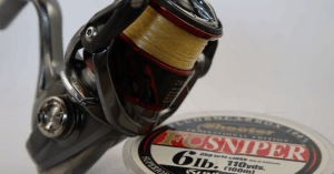 Shimano Stradic close up pic with Sunline Sniper FC fluorocarbon line
