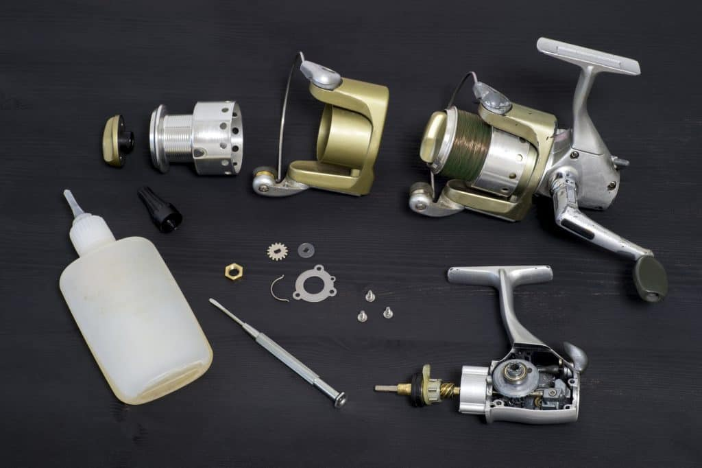 how to fix a fishing reel pic of the tools required