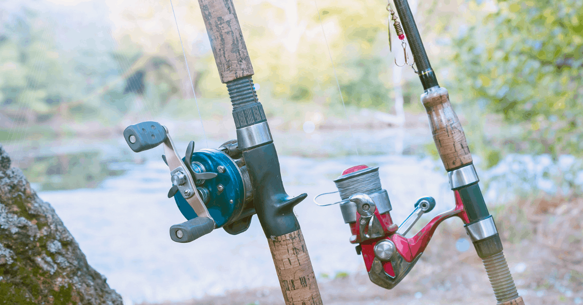 Spinning reel and baitcasting reel and rod comparison shot feature image